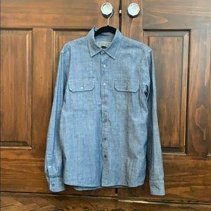 Men's denim button down shirt